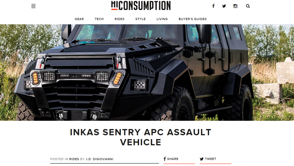 HiConsumption INKAS Sentry