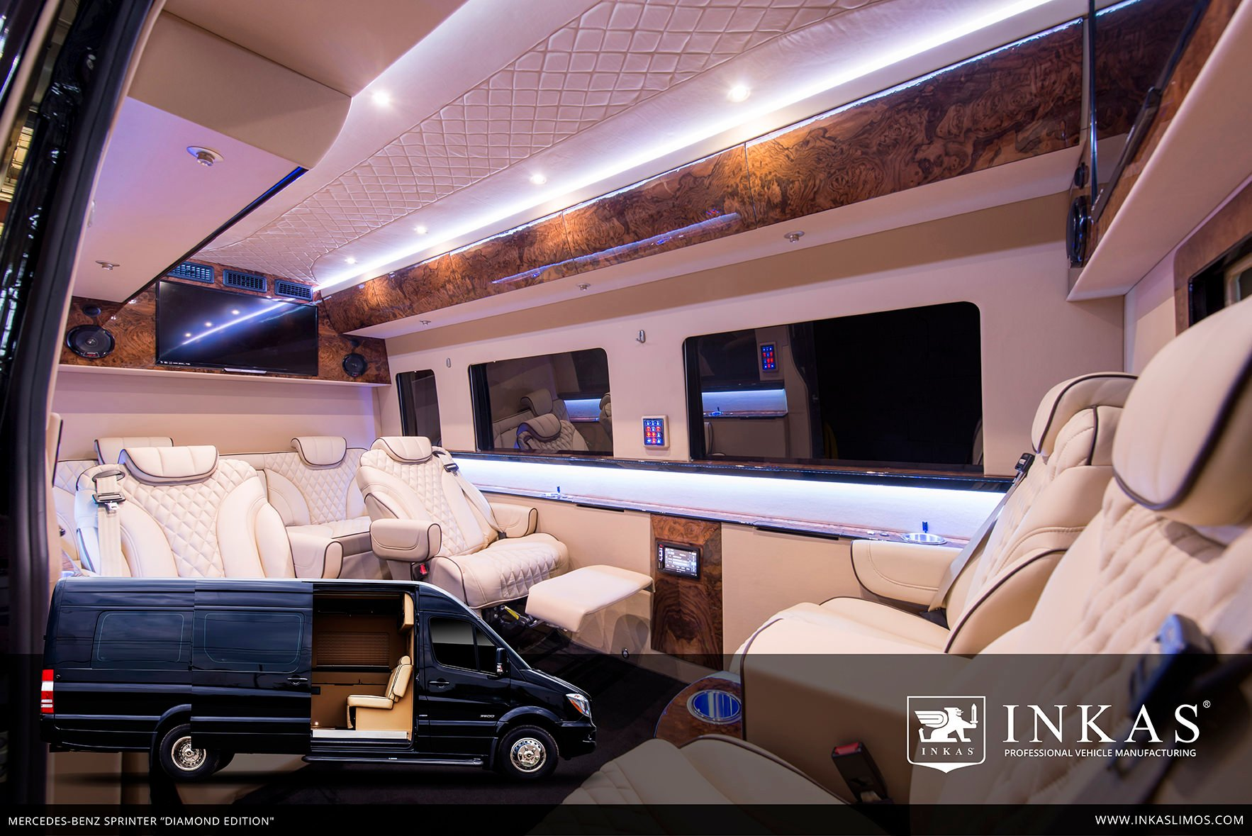 mercedes benz sprinter diamond edition by inkas inkas armored vehicles bulletproof cars. Black Bedroom Furniture Sets. Home Design Ideas