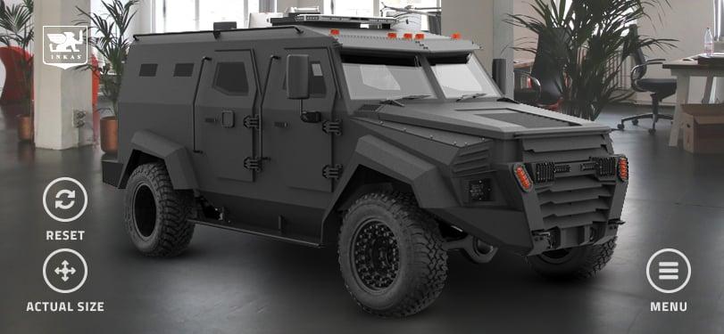 INKAS Sentry APC Model Screen