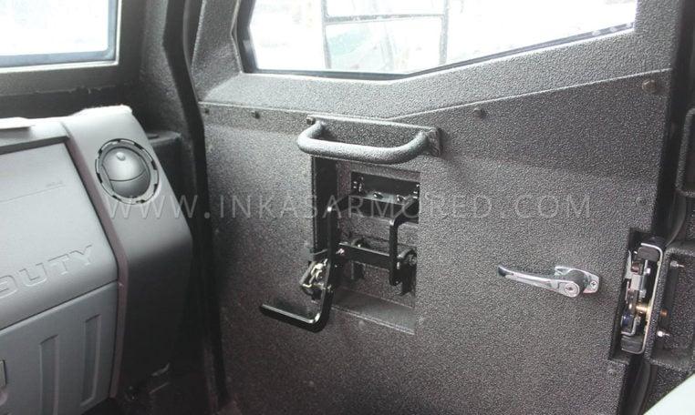 INKAS Sentry MPV gunport