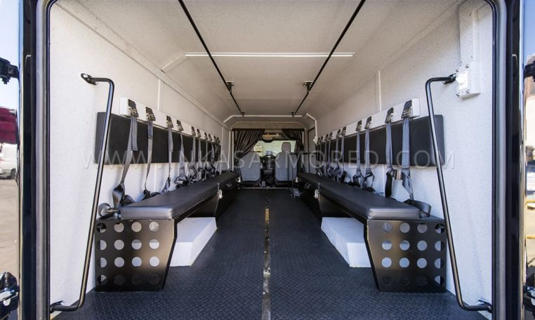 Ford Transit 350HD SWAT Interior