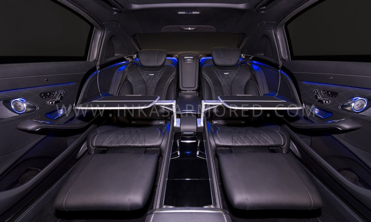 Armored Maybach Rear Seats Interior