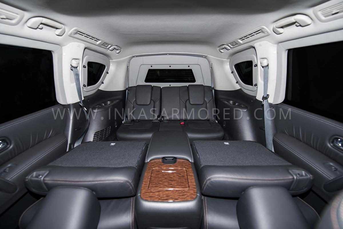 Armored Nissan Armada Folding Seats