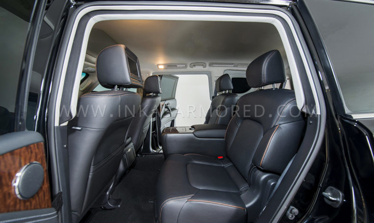 INKAS Armored Nissan Armada Rear Seating