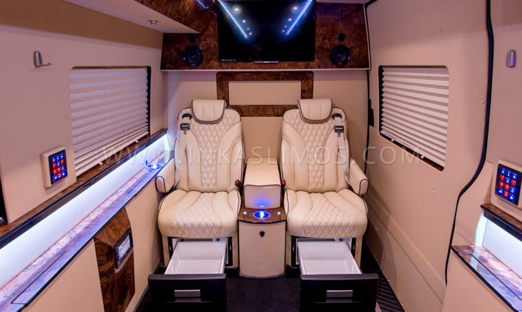 INKAS armored MB Sprinter Limo seating