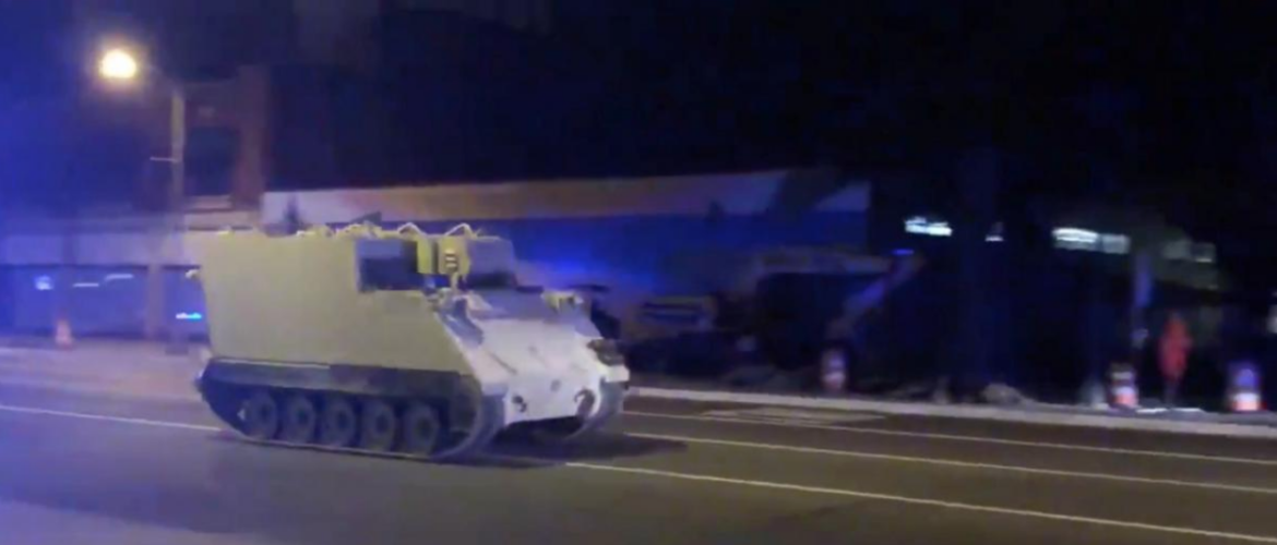 Stolen armored vehicle in Virginia