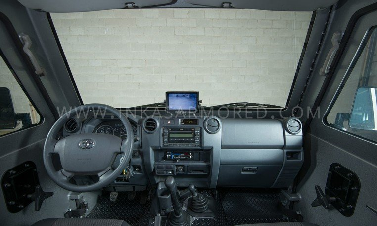 Armored Ford F-550 Cash In Transit Vehicle Front Cabin