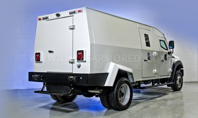 Armored Ford F550 Rear View