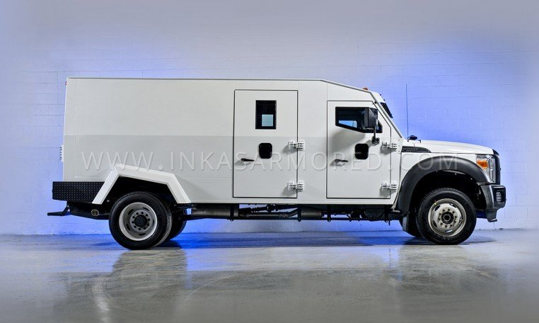 Armored Ford F550 Side View