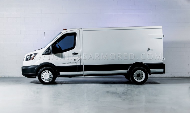Armored Ford Transit CIT Truck Side View
