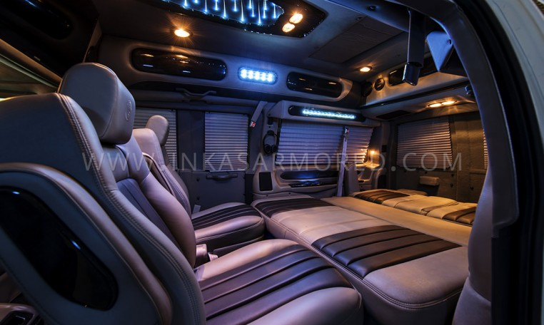 Armored GMC Limo Interior