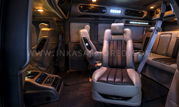 Armored GMC Savana VIP Limo Seats