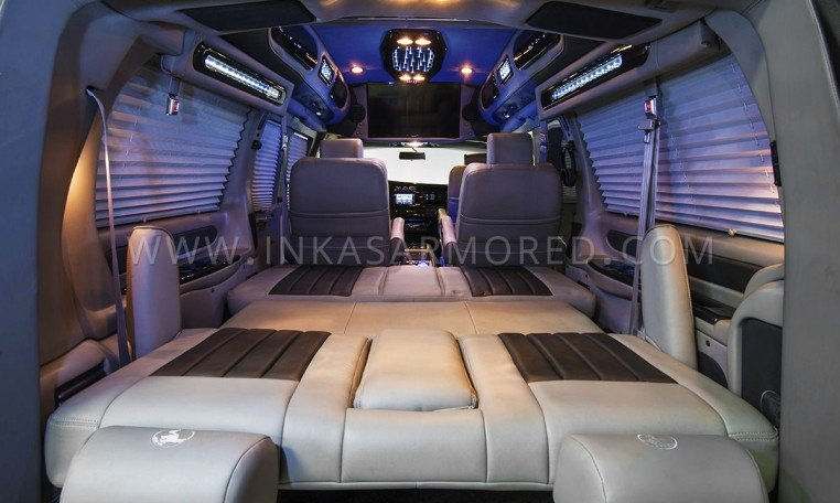 Armored GMC Van Limousine Interior