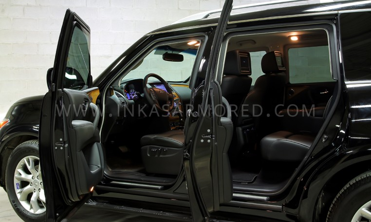 Armored Infiniti QX80 Ballistic Glass