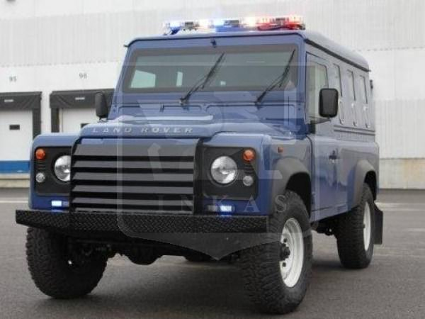 Armored Land Rover Defender Front