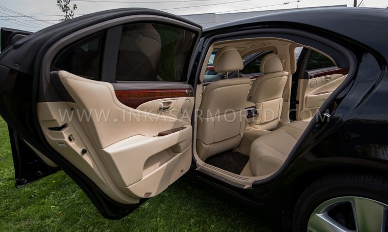 Armored Lexus LS 460 L Interior Rear