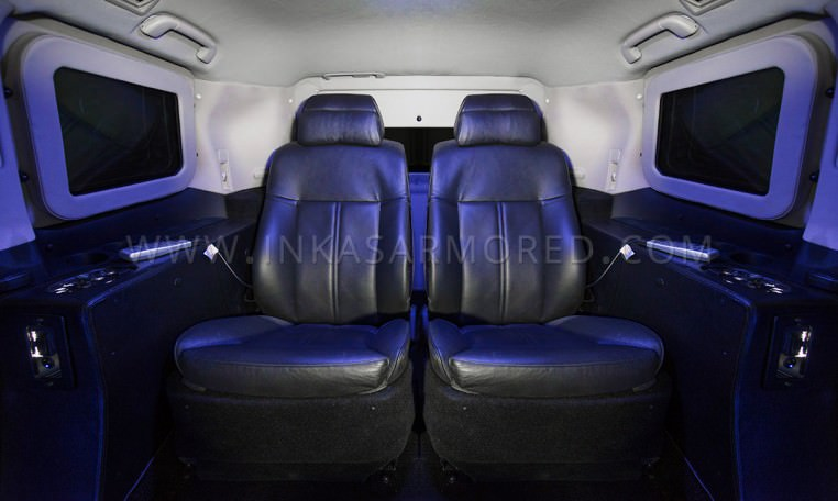 Armored Lexus LX 570 Limousine Seating