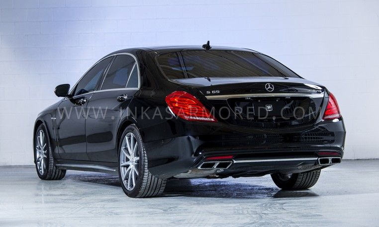 Armored MB S-Class Rear