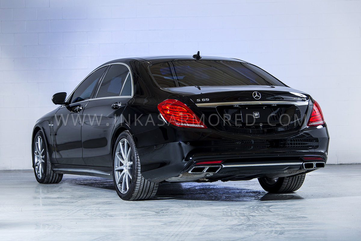Armored Mercedes Benz S550 For Sale Inkas Vehicles S Class Mb Rear
