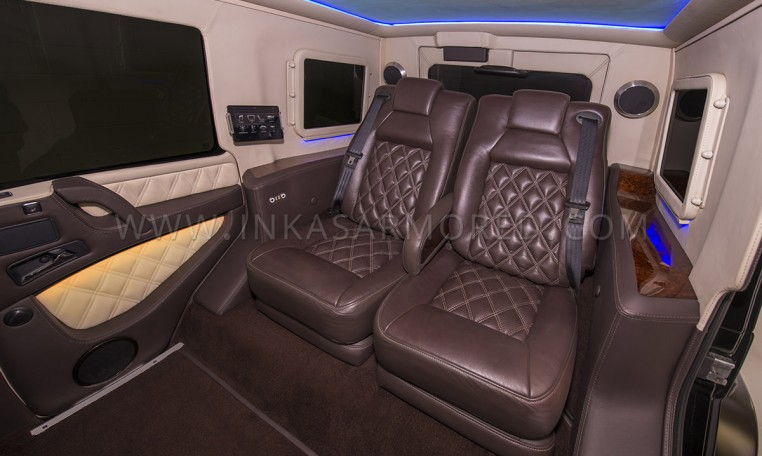 Armored Mercedes-Benz G63 Captain Chair Seating
