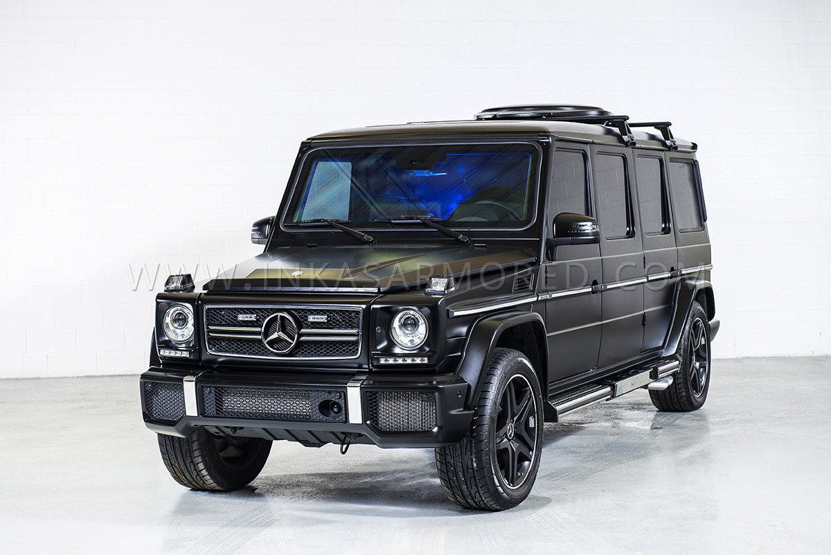 Mercedes benz g63 amg armored limousine for sale inkas for Mercedes benz g63 amg for sale