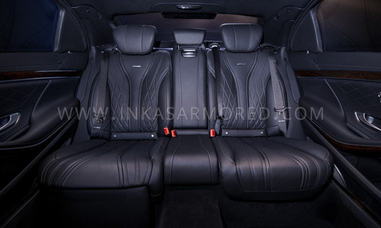 Armored Mercedes-Benz S-Class AMG Rear Seats