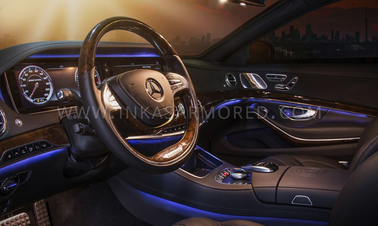 Armored Mercedes-Benz S65 AMG Interior
