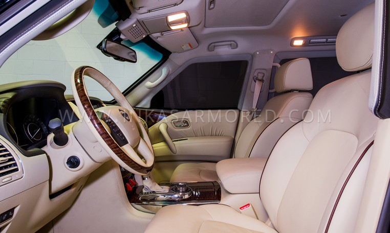 Armored Nissan Patrol Front Cabin