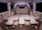 Armored Nissan Patrol SUV Rear Seats Lowered
