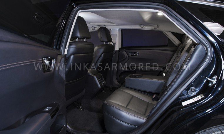 Armored Toyota Avalon Rear Seating