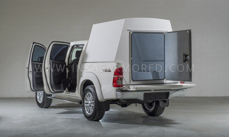 Armored Toyota Hilux CIT Vault Compartment