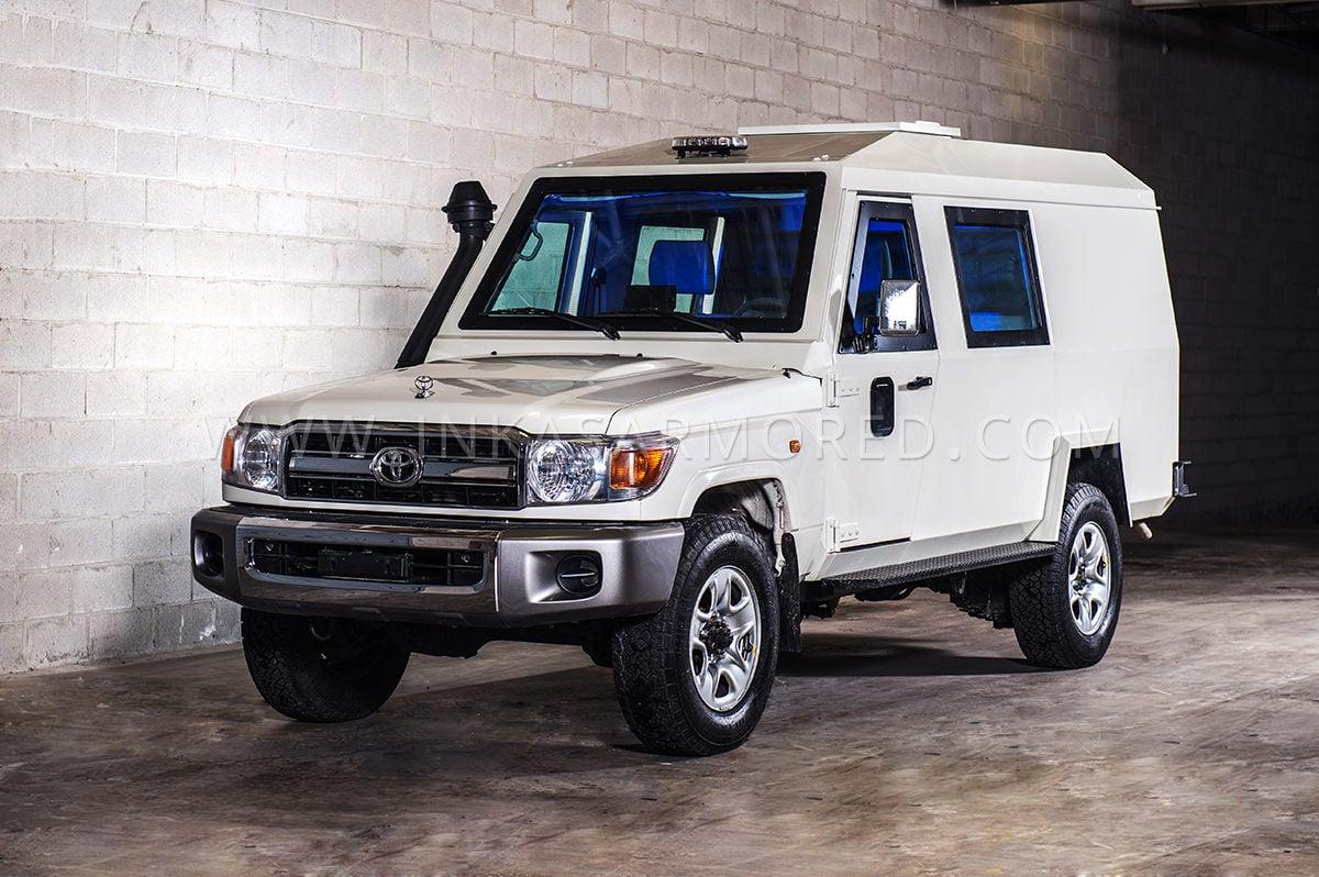 toyota land cruiser  cash  transit vehicle  sale inkas armored vehicles bulletproof