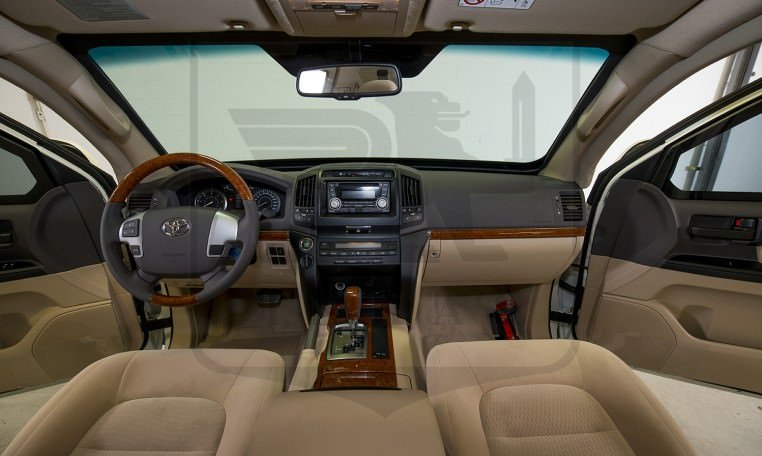 Armored Toyota Land Cruiser GXR Cabin