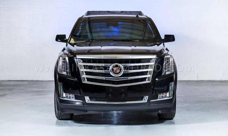 Armoured Cadillac Escalade Limo Front