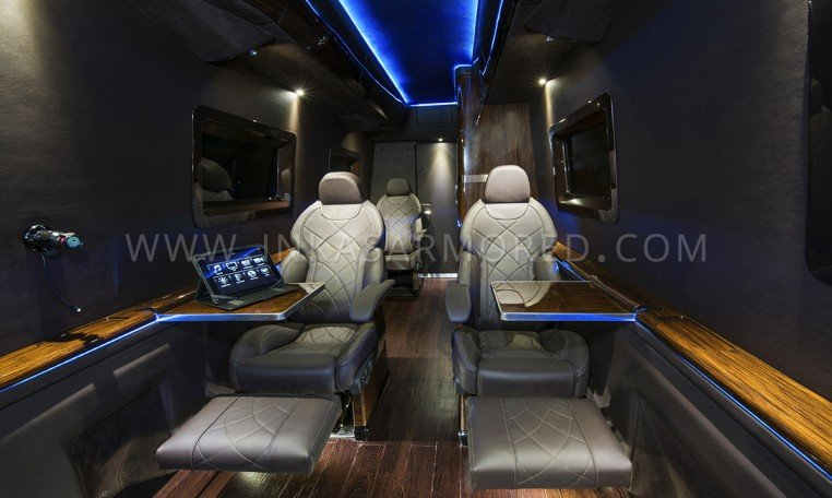 Armoured MB Sprinter Limo Seating