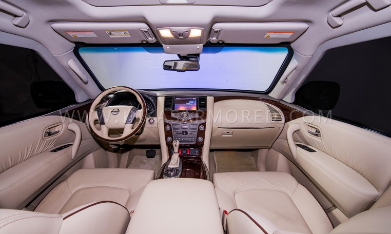 Armoured SUV Nissan Patrol Front Seats