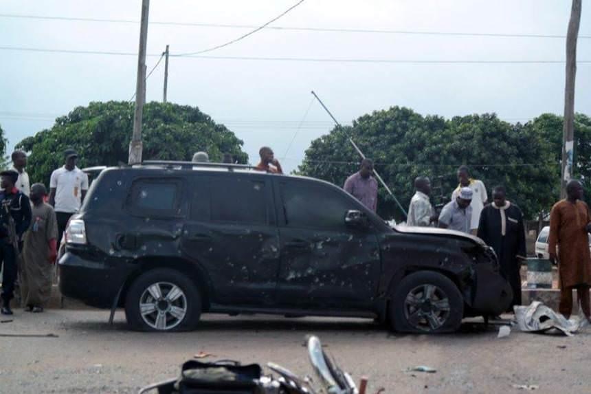 buhari car after bomb attack