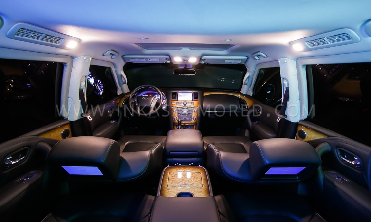 Bulletproof QX80 Interior