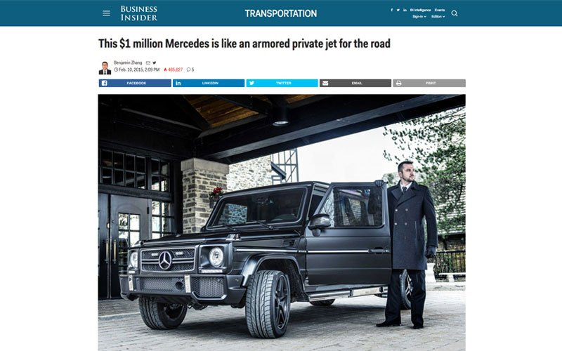 business insider on the luxurious inkas limo