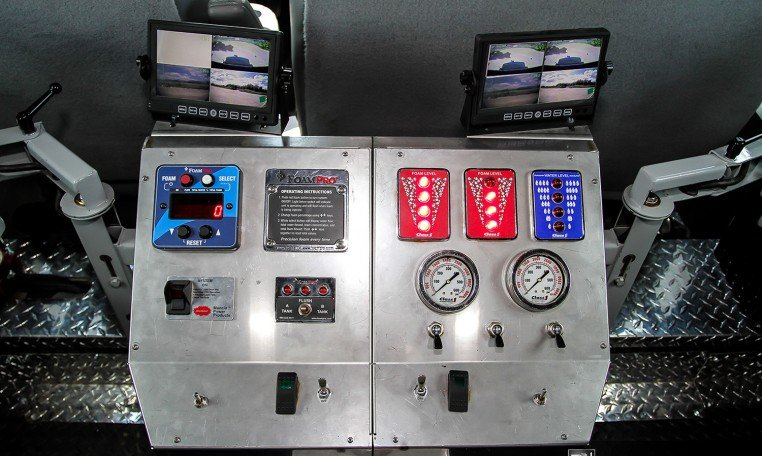 Controls on INKAS Armored Riot Control Vehicle