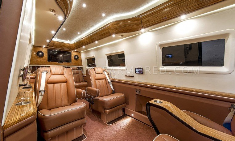 Custom Luxury Sprinter Limousine Interior