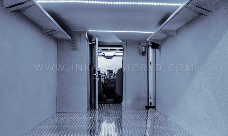 Ford Transit Armored CIT Interior Compartment
