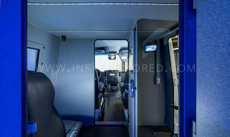 INKAS Armored Cash In Transit Vehicle Interior