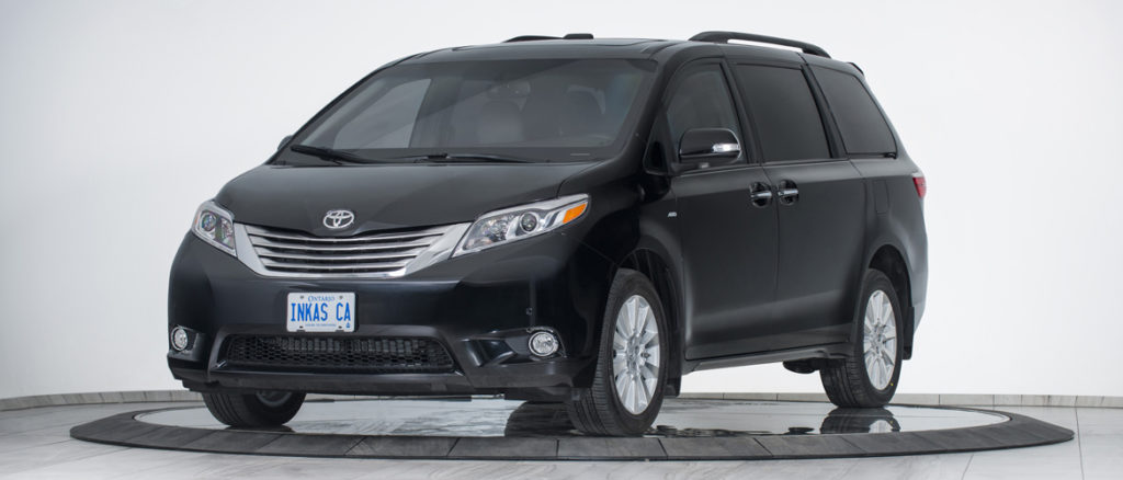 inkas armored toyota sienna front