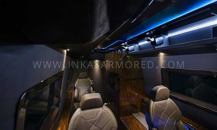 Interior Compartment MB Sprinter Armored Limo