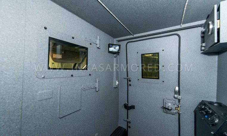 Mercedes-Benz Armored Cash Truck Interior Compartment