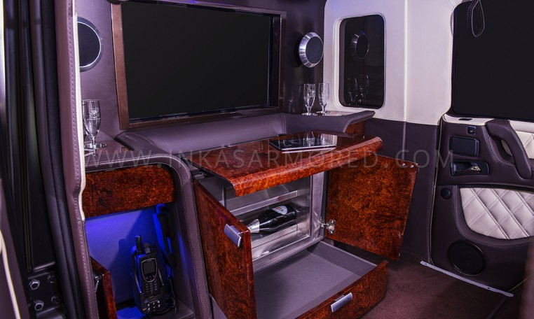 Stretched Armored Mercedes-Benz G63 Custom Interior