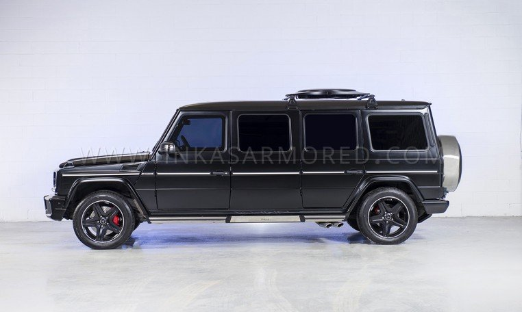 Stretched G63 Armored Limo Side View